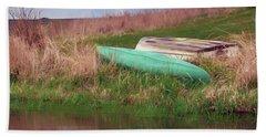 Beach Towel featuring the photograph Rowboat - Canoe by Nikolyn McDonald