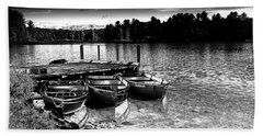 Beach Sheet featuring the photograph Rowboats At The Dock 2 by David Patterson