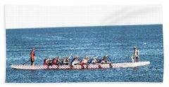 Rowing On The Bay Beach Towel