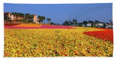 Beach Towel featuring the photograph Rows In Bloom by James Kirkikis