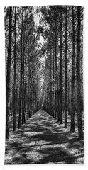 Rows Of Pines Vertical Beach Towel