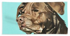 Beach Towel featuring the painting Roxy by Nathan Rhoads