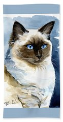 Roxy - Ragdoll Cat Portrait Beach Towel