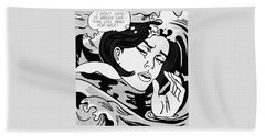 Drowning Girl  Beach Towel
