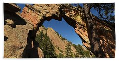 Royal Arch Trail Arch Boulder Colorado Beach Towel