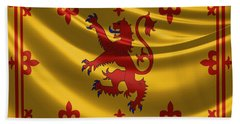 Royal Banner Of The Royal Arms Of Scotland Beach Sheet