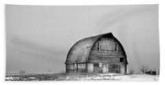 Royal Barn Bw Beach Towel by Bonfire Photography