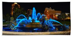 Royal Blue J. C. Nichols Fountain  Beach Towel