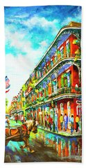Royal Carriage - New Orleans French Quarter Beach Towel