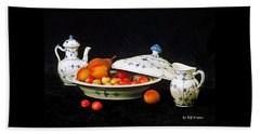 Royal Copenhagen And Fruits Beach Towel