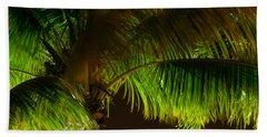 Royal Palm Night Out Beach Sheet