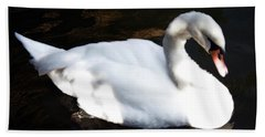 Royal Swan Beach Towel