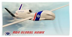 Rq4 Global Hawk Drone United States Beach Sheet