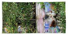 Beach Sheet featuring the digital art  Ruach Ha-kodesh by Dolores Develde