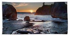 Ruby Beach #1 Beach Towel