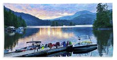 Ruby Lake Beach Towel by Ed Hall