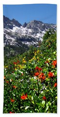Ruby Mountain Wildflowers - Vertical Beach Towel