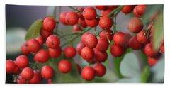 Ruby Red Berries Beach Sheet