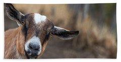 Ruby The Goat Beach Towel