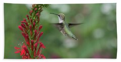 Ruby Throated Hummingbird 2016-4 Beach Towel