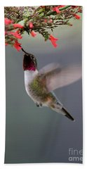 Ruby Throated Hummingbird Beach Sheet