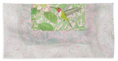 Ruby-throated Hummingbird Beach Towel