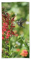Rubythroated Hummingbird 2016-3 Beach Towel