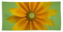 Rudbeckia Blossom Irish Eyes - Square Beach Towel by Patti Deters