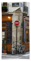Rue De La Colombe - Paris Photograph Beach Towel