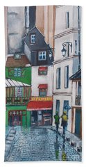 Rue Galande, Paris Beach Towel