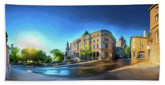 Rue Port Dauphin - Painting Beach Towel