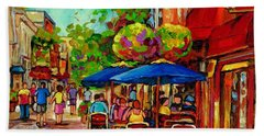 Rue Prince Arthur Montreal Beach Sheet