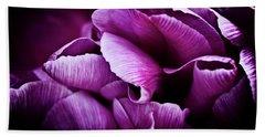 Beach Towel featuring the photograph Ruffled Edge Tulips by Joann Copeland-Paul