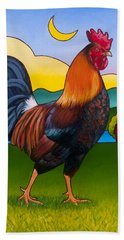 Rufus The Rooster Beach Towel by Stacey Neumiller