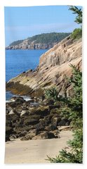 Rugged Coastline Beach Towel by Living Color Photography Lorraine Lynch