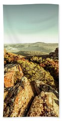 Rugged Mountaintops To Regional Valleys Beach Towel
