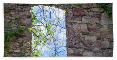 Beach Towel featuring the photograph Ruin Of A Window - Bridgetown Millhouse  Bucks County Pa by Bill Cannon
