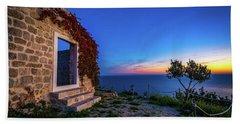 Ruins In Dubrovnik Beach Sheet