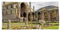 Ruins. Melrose Abbey. Beach Towel
