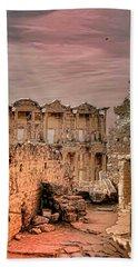 Ruins Of Ephesus Beach Sheet by Tom Prendergast
