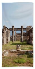 Ruins Of Pompeii Beach Sheet by Ivete Basso Photography