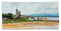 Ruins Of St Andrews Cathedral On The Beach Beach Towel
