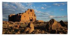 Ruins Of Yereruyk Temple Under Amazing Cloudscape, Armenia Beach Towel