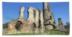 Beach Towel featuring the photograph Ruins Of Zviretice Castle by Michal Boubin