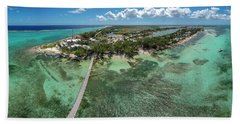 Beach Towel featuring the photograph Rum Point Beach Panoramic by Adam Romanowicz
