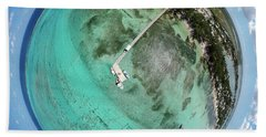 Beach Towel featuring the photograph Rum Point Little Planet by Adam Romanowicz