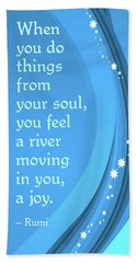 Rumi River Joy Beach Towel