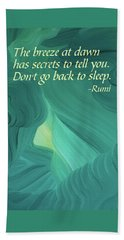 Rumi's Breeze At Dawn Beach Towel