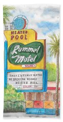 Rummel Motel In Las Vegas, Nevada Beach Sheet
