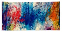 Beach Towel featuring the painting Run Like The Wind by Tracy Bonin